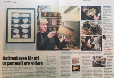 Hurra! Artikel om hattmakarmästare Lisa Franzén i dagens GP!