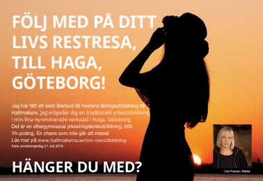 Följ med på ditt livs restresa, till Haga, Göteborg!